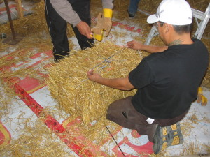 Preparation of straw bale